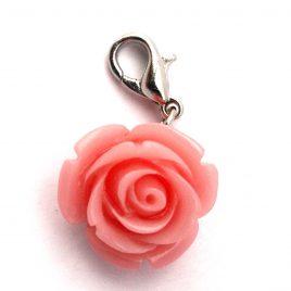 Pink Rose Dangle