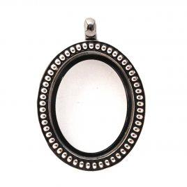 Silver Vintage Oval