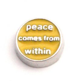 Peace Comes From Within (Yellow)