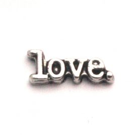 Silver Love Word with Period