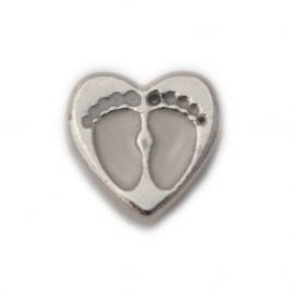Baby Feet Heart (White)