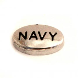 Navy Oval (Silver)