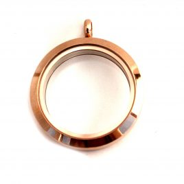 Large Round Rose Gold Locket