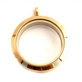 Large Round Gold Locket