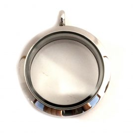 Large Round Silver Locket