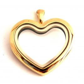 Gold Straight Heart Locket