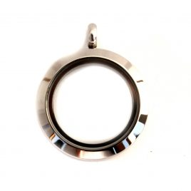 Medium Round Silver Locket