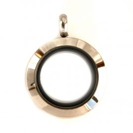 Mini Round Silver Locket