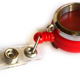 Stainless Steel Red Badge Holder