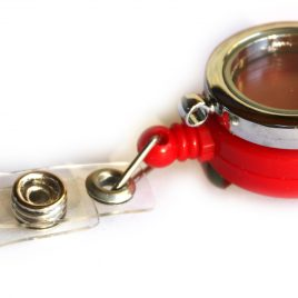 Alloy Red Badge Holder