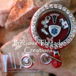 Stainless Steel Locket Badge Holder (Paramedic Theme)
