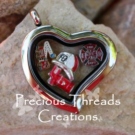 Firefighter Locket Necklace