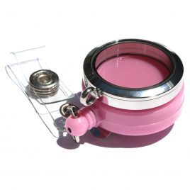 Stainless Steel Pink Badge Holder