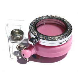 Alloy Pink Badge Holder
